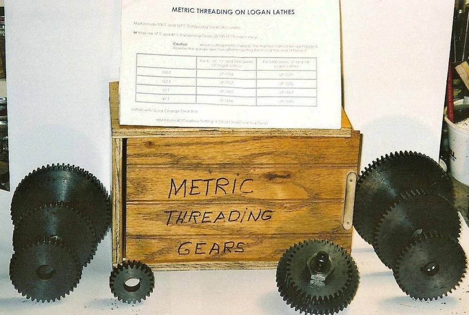 Logan Lathe Metric Threading Gears