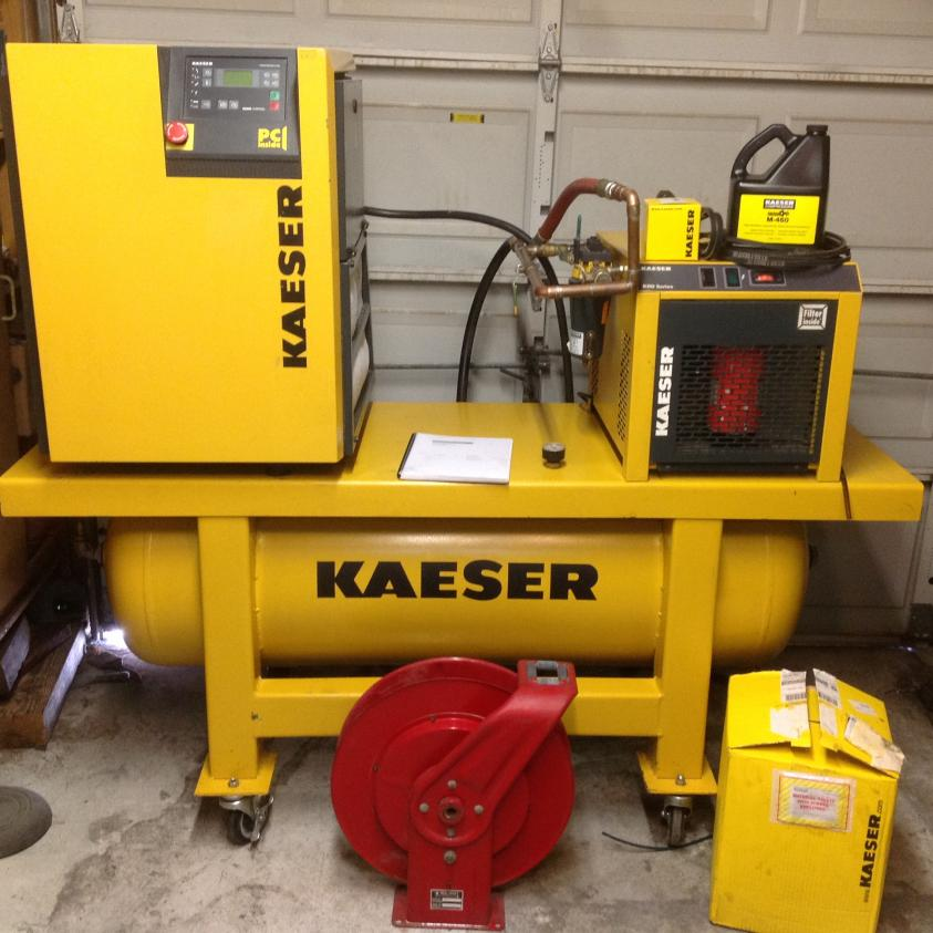 Machinist Tools For Sale >> KAESER AIR CENTER Rotary Screw Compressor +dryer+ tank+ extras $4800