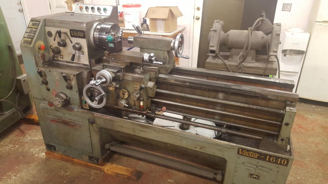 Lathe For Sale >> Victor 1640 Engine Lathe For Sale