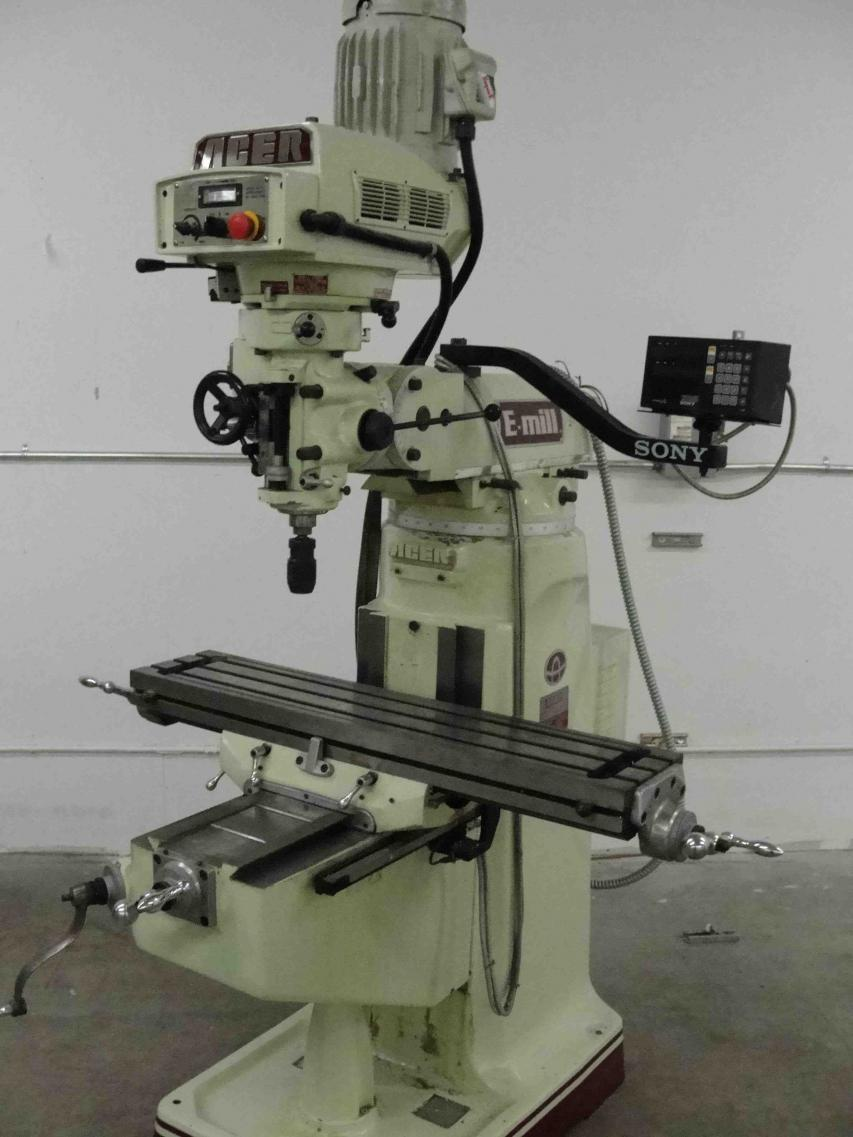 Milling Machine For Sale >> For Sale: Acer E-Mill 3VS Milling Machine w/ Sony DRO