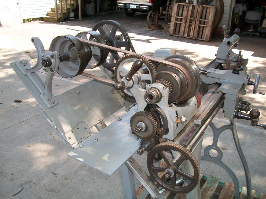 Metal Lathe For Sale >> Lathe star metal lathe 1895 with line shaft and clutch