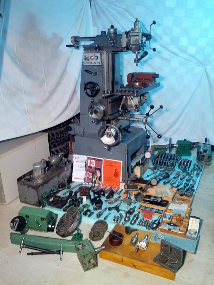 Machinist Tools For Sale >> Schaublin 13 Precision universal milling machine, various ...