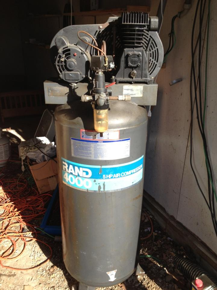 Thread: Used Ingersoll-Rand 5 HP Vertical Air Compressor For-Sale