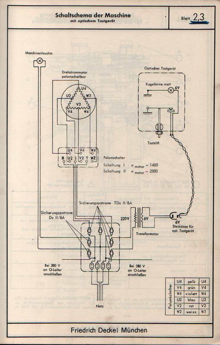deckel kf 1 electrical question
