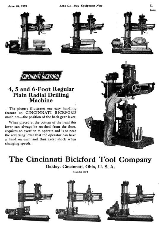 cincinnati bickford radial drill press rh practicalmachinist com Radial Drill Press Cincinnati Bickford Drill Press