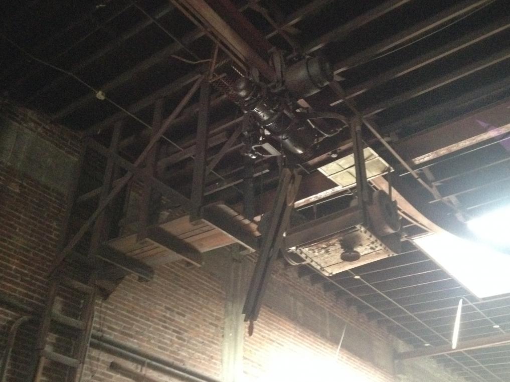 Antique Overhead Crane Operator Comparment Under Track
