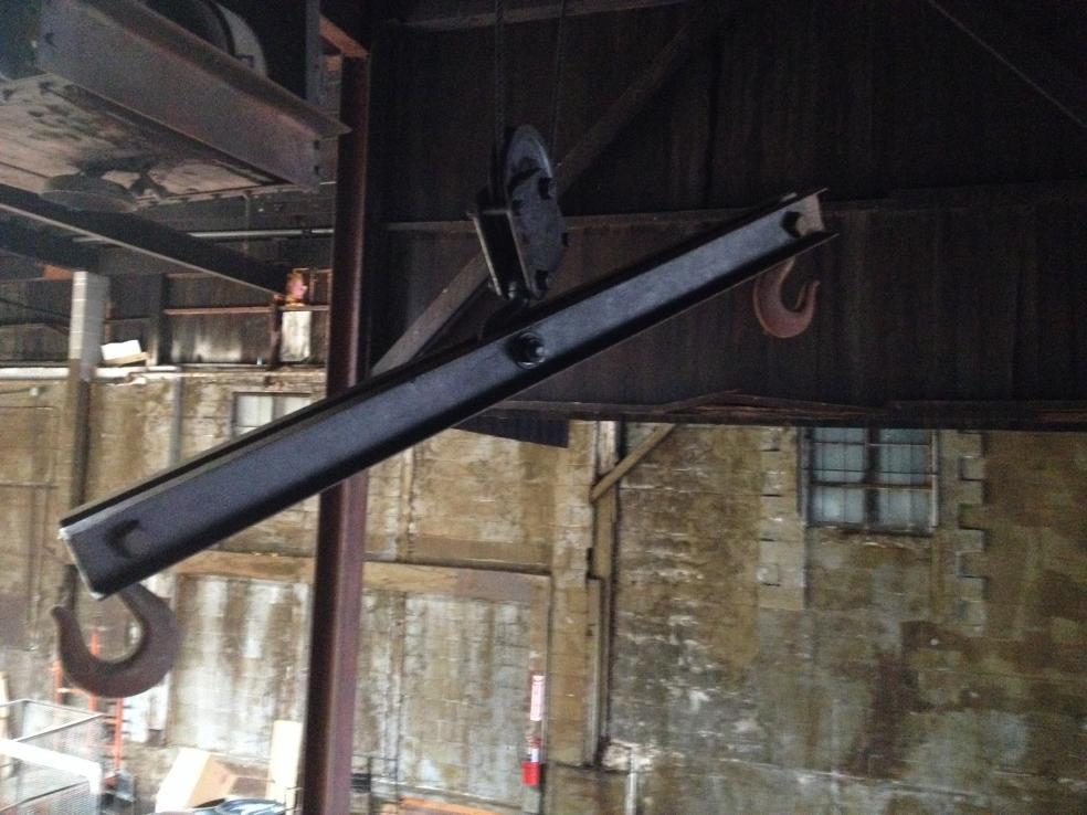 Antique OverHead Crane - Operator Comparment Under Track