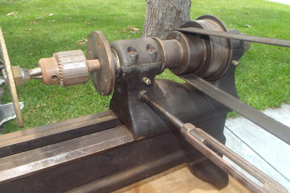 Help Wirh Antique Cast Iron Wood Lathe Benchtop