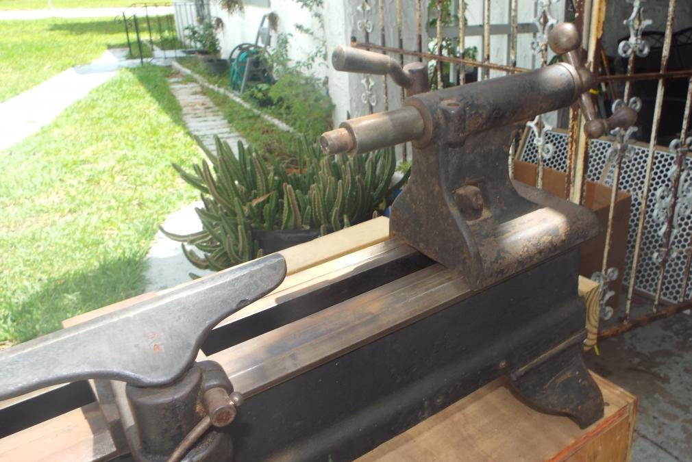 Help Wirh Antique Cast Iron Wood Lathe Benchtop