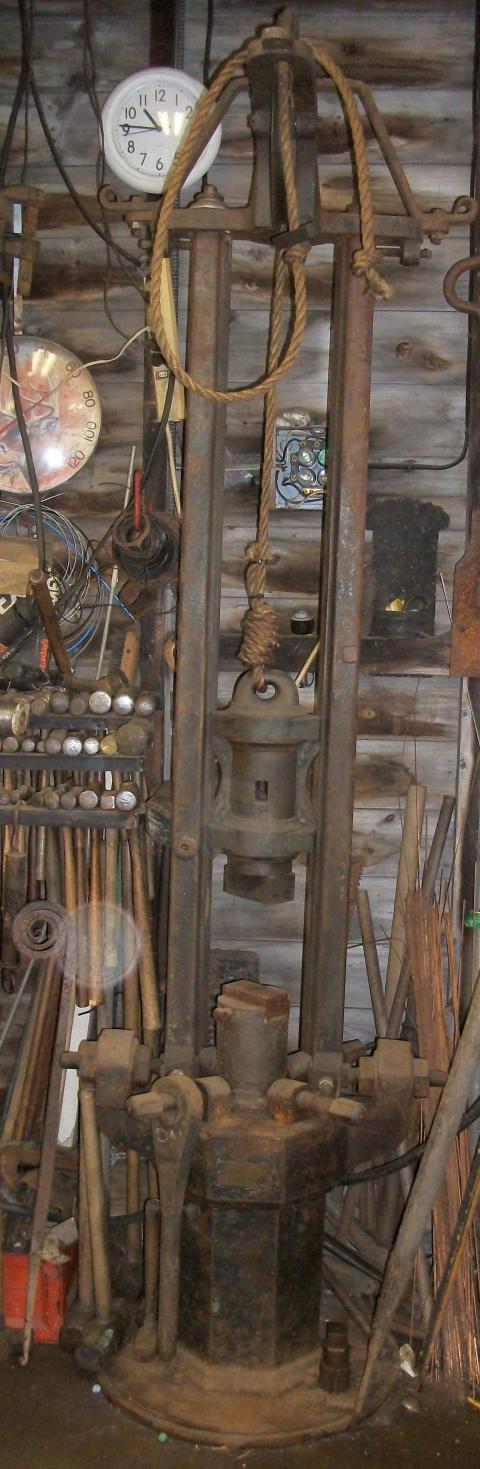 Small Manual Drop Hammer Conversion