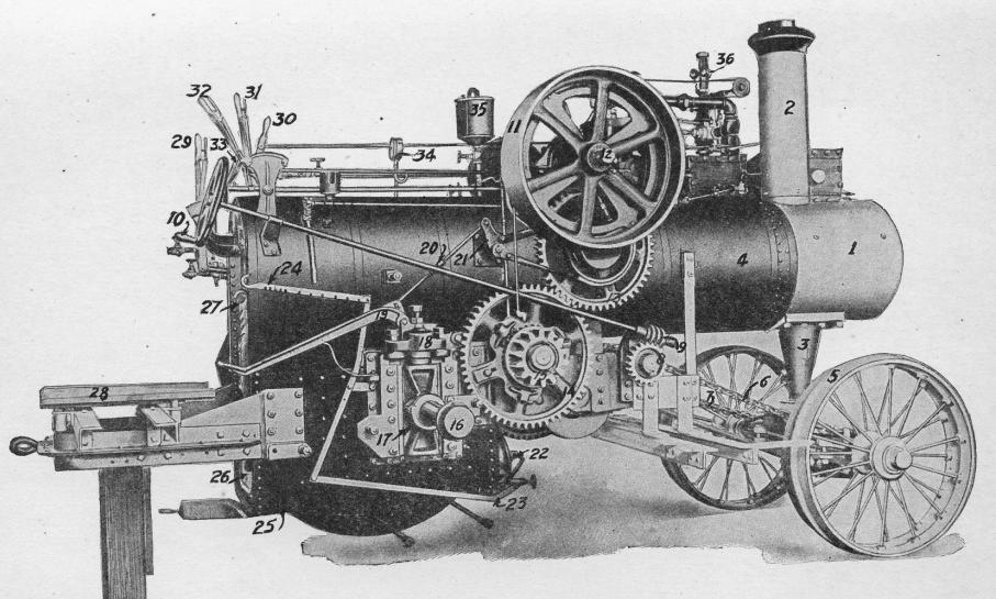 how to build a working-model steam tractor
