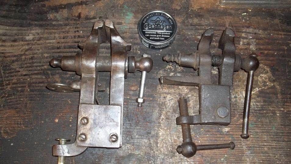 A Marvelous Wrought Iron Blacksmith Vice