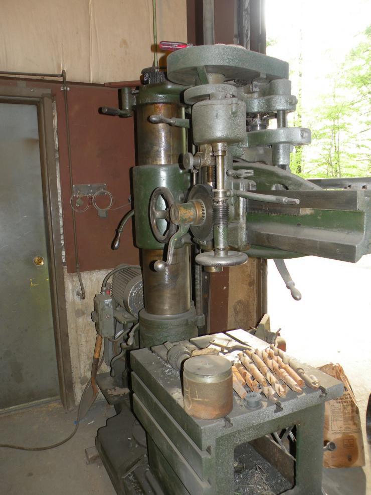 the morris machine tool co radial drill help id rh practicalmachinist com Drill Press Accessories Drill Press Parts