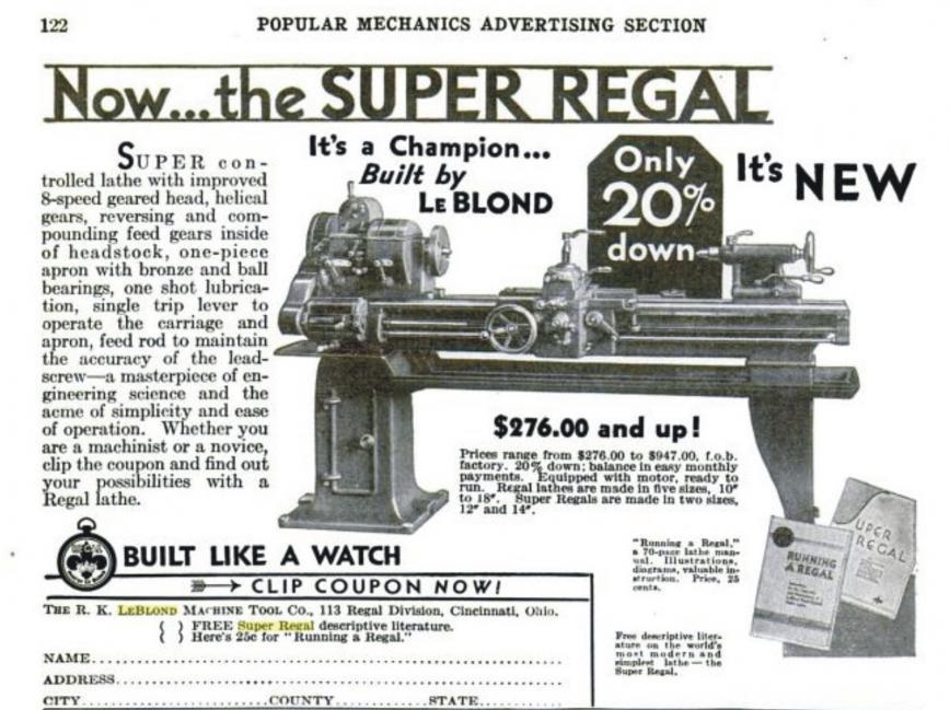 87448d1380650467 ebay brooklyn lathe 14 leblond super regal vintage 1937 a leblond lathe ad ebay in brooklyn lathe 14\
