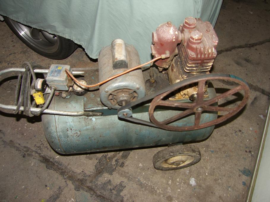 scrap  repair  el smith portable  gallon compressor