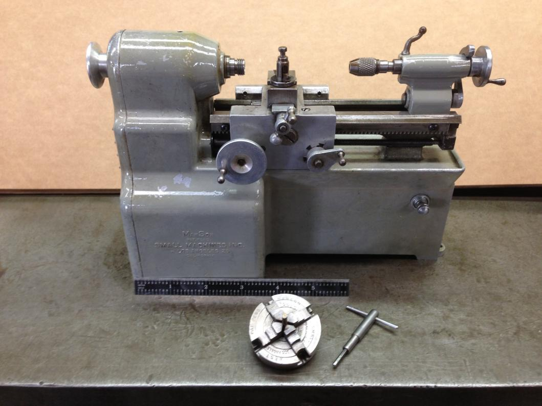 Toy Lathe Built By Manson Small Machines Inc
