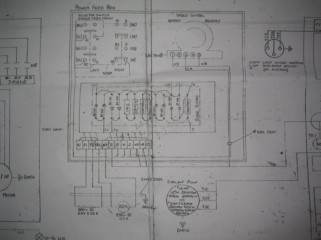 hardinge hlv-h power feed rectifier unit. - page 2 bridgeport power feed wiring diagram #9