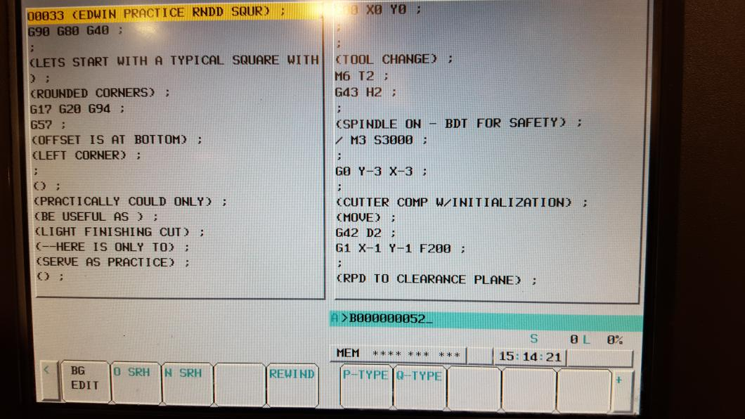 Can't figure how to start mid program on Fanuc oi MD