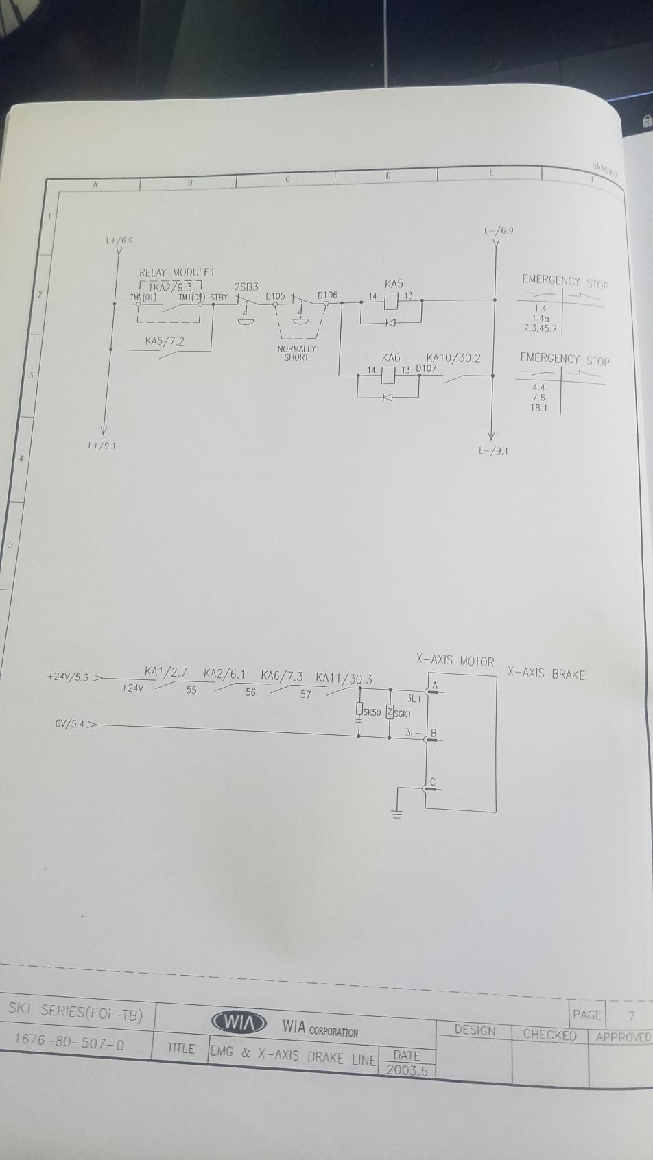 FANUC 0i-TB on KIA SKT21LMS- 410 Servo Alarm B Axis Excess Error