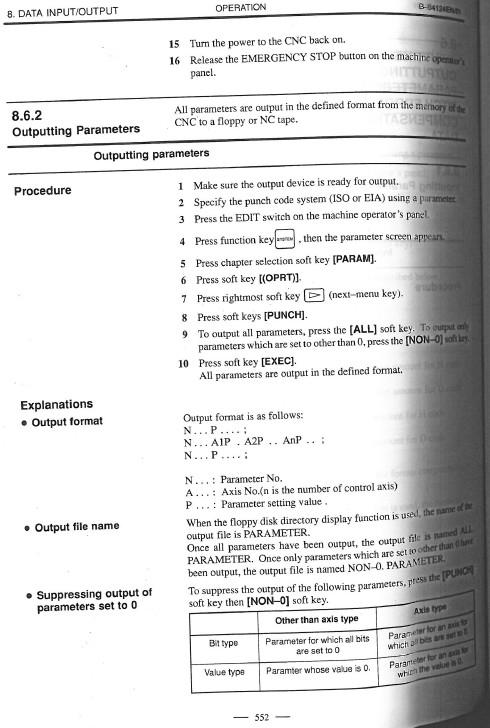 Fanuc 6t operators Manual