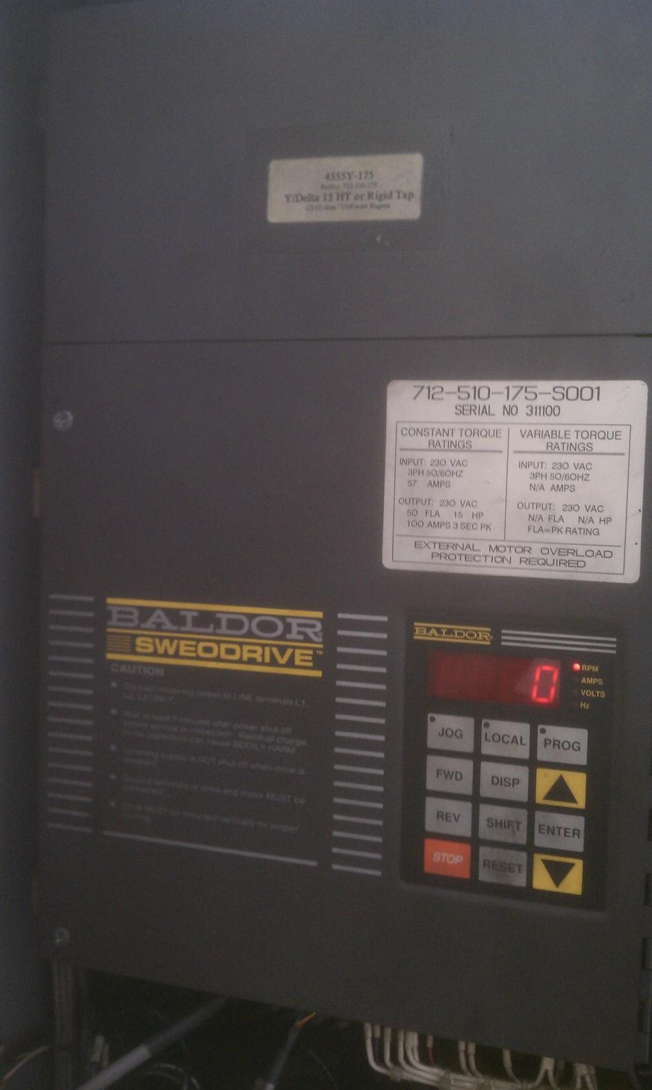 550048 powerflex dc drive selection for a baldor motor.