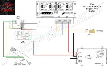 plasma trigger on off gecko g540 cnc power wiring diagram