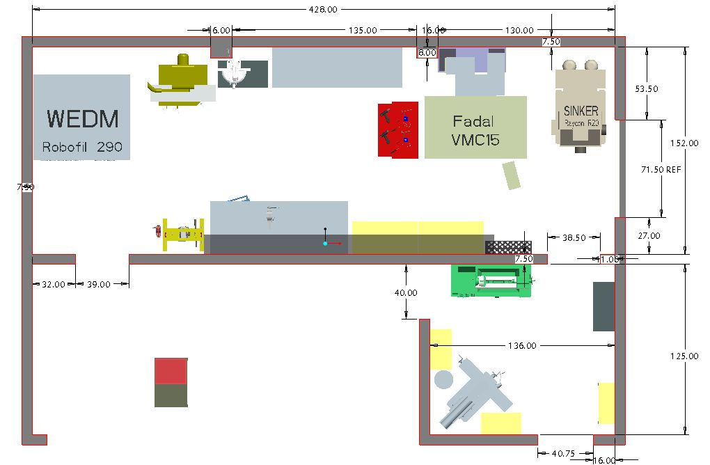 machine shop lay out