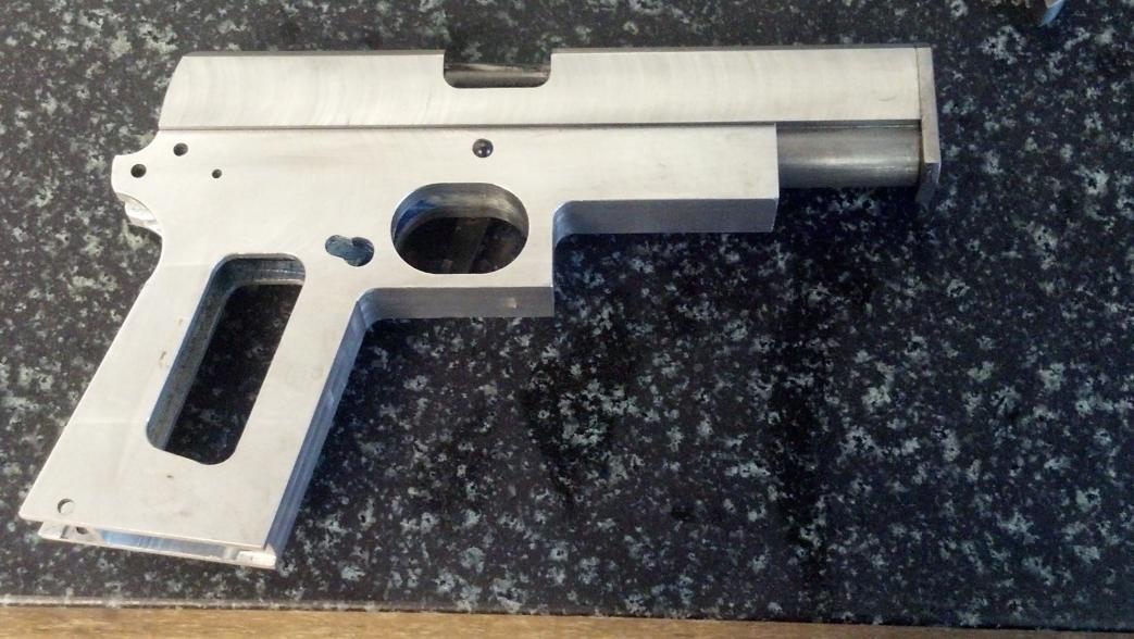 how to make a pistol slide in blender