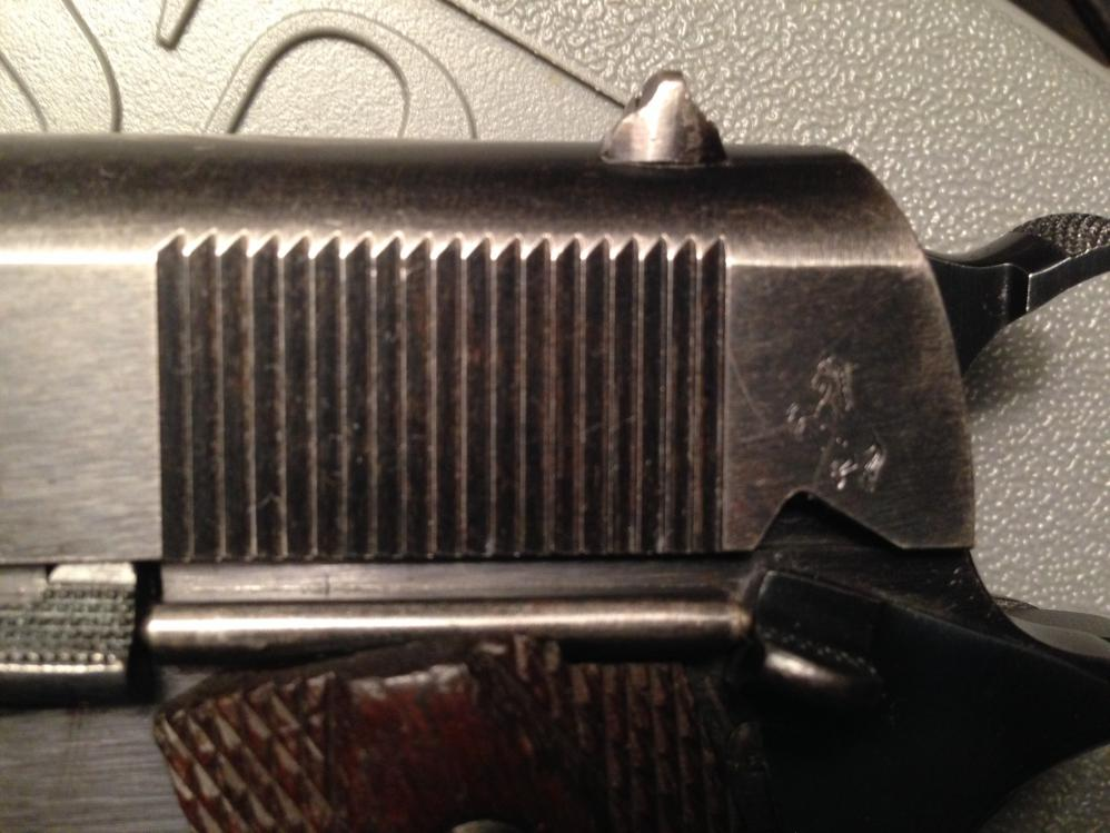 Original 1911 slide grip serrations