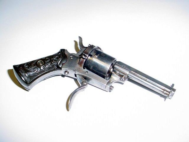 Belgian hammer cock gun