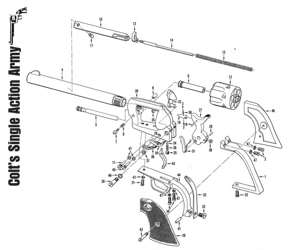 Colt Model M Exploded View 1911a1 Parts Diagram Help Identifying Old 45
