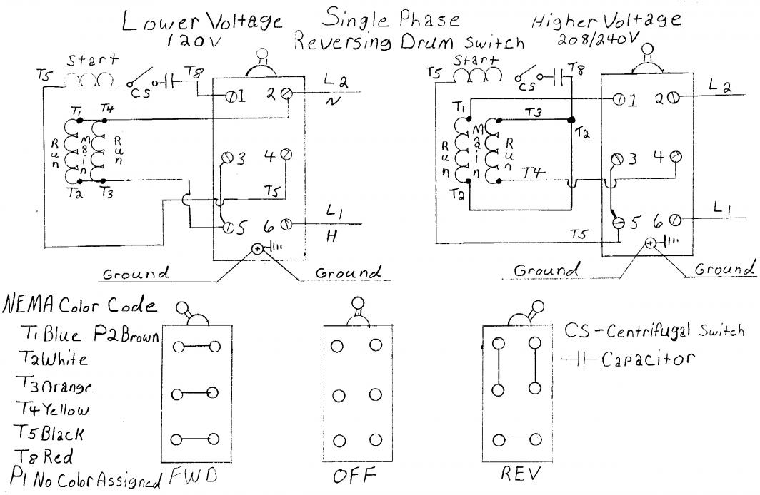 147097d1439491957 wiring help needed baldor 5 hp cutler hammer drum switch single phase drum sw 220 volt single phase capacitor start motor wiring diagram on 220 single phase motor wiring diagrams at edmiracle.co