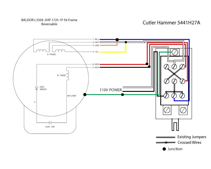 single pole switch wiring diagram to motor wiring help needed baldor .5 hp to cutler hammer drum switch 2 switch wiring diagram on motor #14
