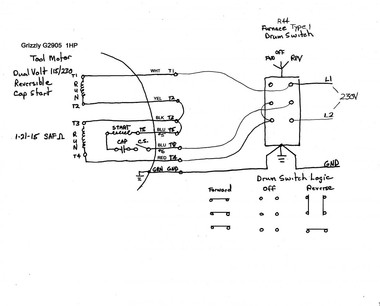 yet another drum switch novice electric motor drum switch wiring diagram #14