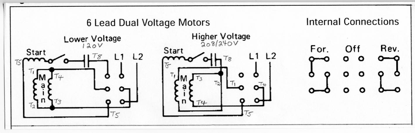 D Wiring New Motor Single Phase Reversing Drum Switch