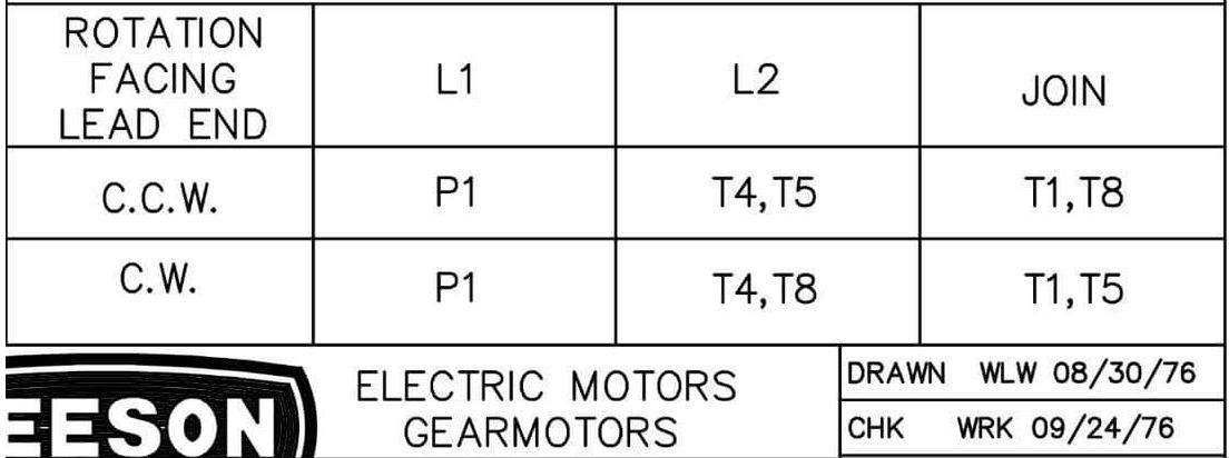 Drum Switch Wiring Diagram For A Leeson Motor - List of ... on