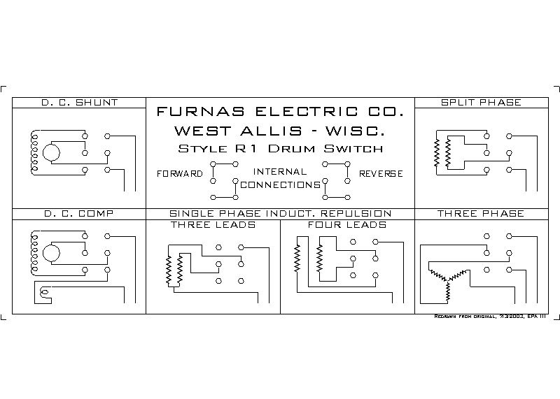 cutler hammer drum switch wiring diagram help wiring furnas style drum switch to 9