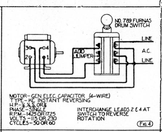 4 Wire Motor Diagram - List of Wiring Diagrams Fasoc Single Phase Motor Wiring Diagram on