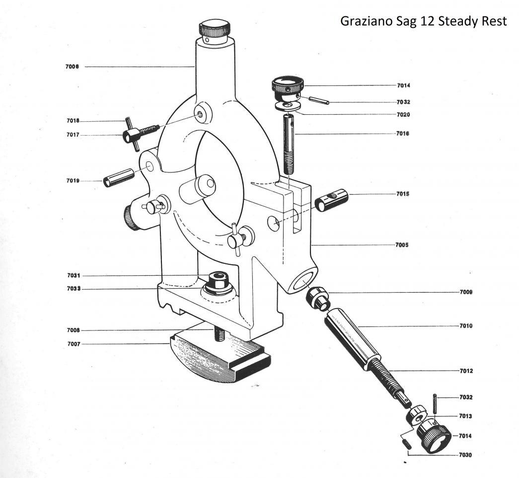 Grazianon Sag 12 Accessories  1  Steady Rest