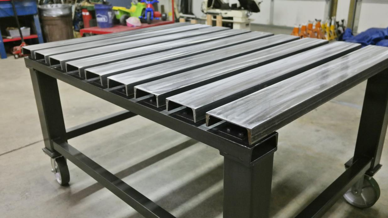 C channel top welding table - Plan fabrication table ...