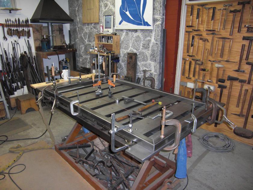 standard duty welding table. critique my plan welding table diagram