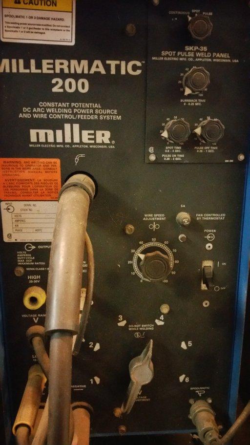 millermatic 200 setting help