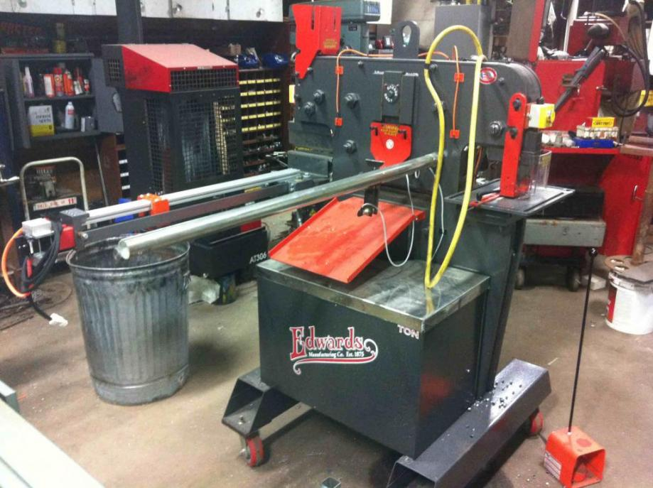 Home Made Edwards 55 Ton Ironworker Punch Push Feed System