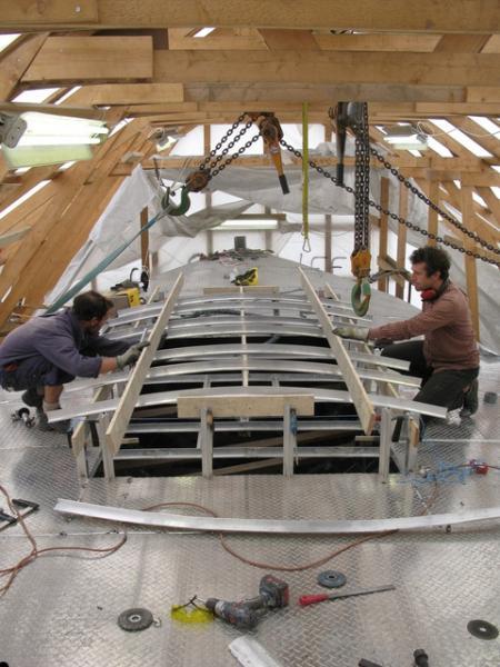 alloy boatbuilding.. - sailing the farm project!