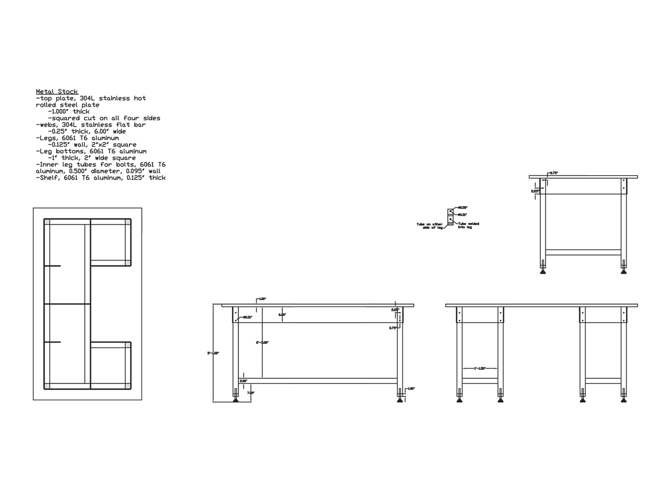 Welding Table Design Page 2
