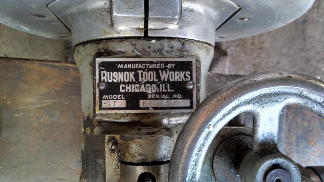 rusnok milling machine