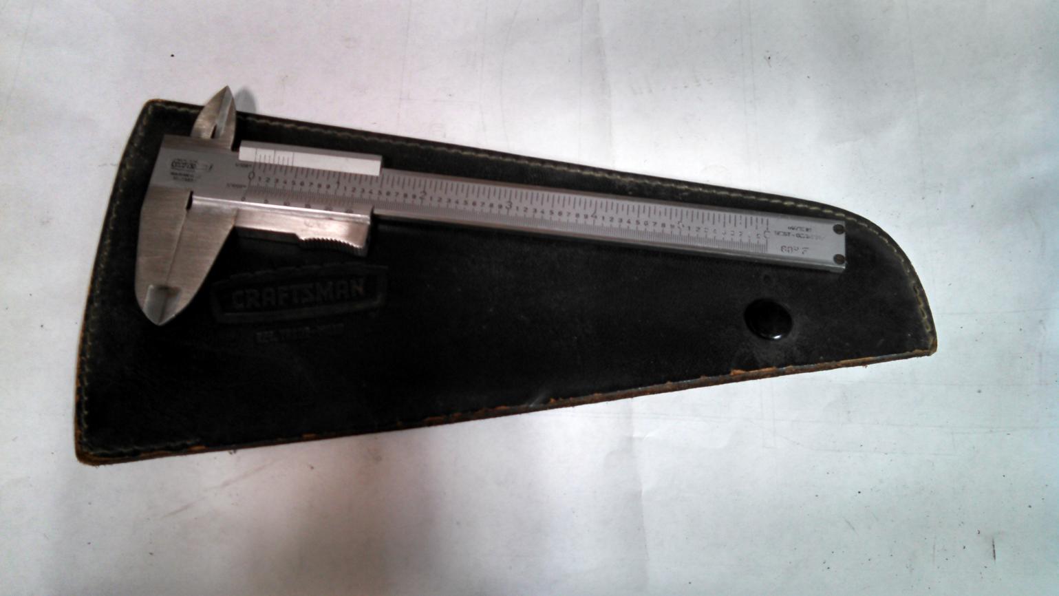 How To Use Vernier Caliper >> FS. Vernier caliper, German, Craftsman
