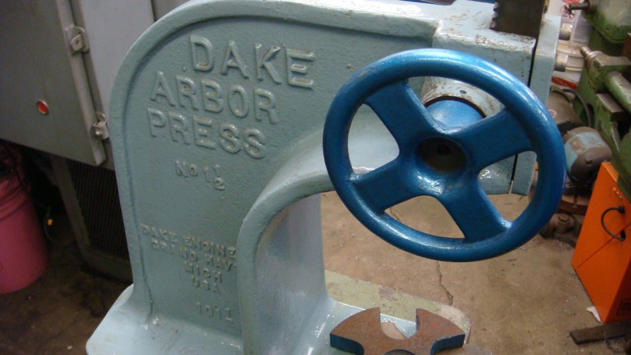 F S Dake Ratcheting Arbor Press 3 Ton