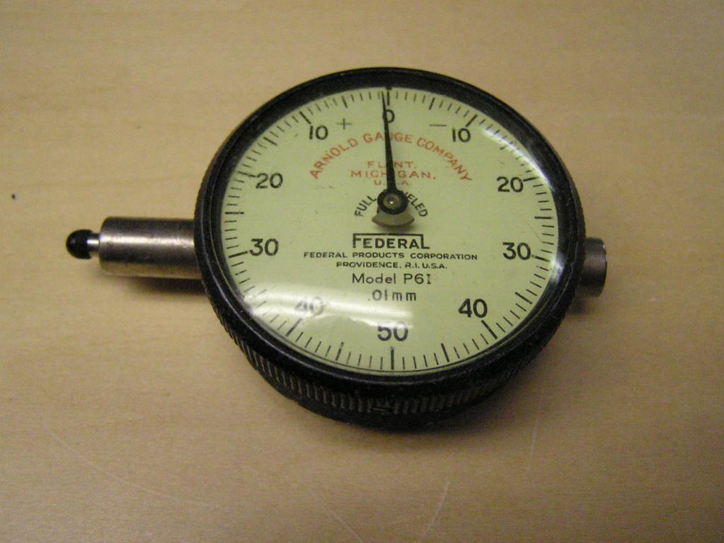 Federal Indicator Travel Products : Metric federal dial indicator