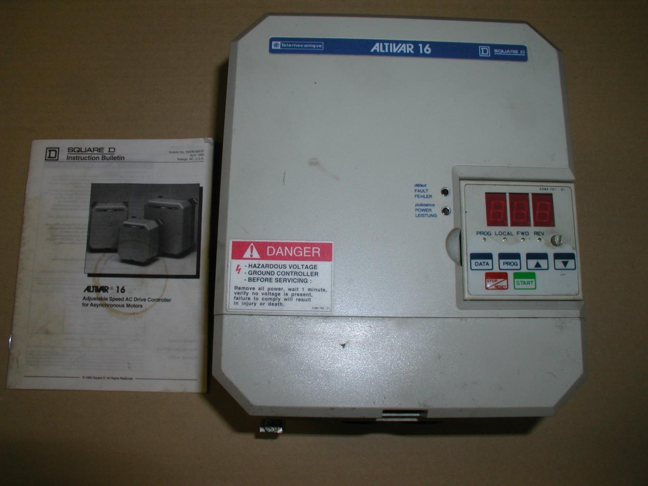 Telemecanique Altivar 16 Service Manual